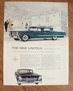 1958 Lincoln Coupe Continental Mark Iii Ad