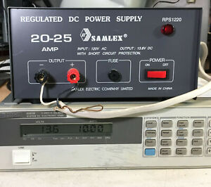 Samlex Rps1220 13 8vdc 20 25a Regulated Dc Power Supply 276w Load Tested