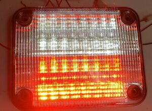 Whelen 900 Red clear Led Split 90rc5fcr 4261 01 06841378cd