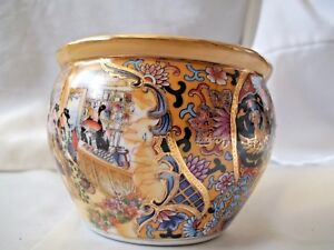 Japanese Bowl Gold Trimmed Hand Painted 4 X 3 Elegant