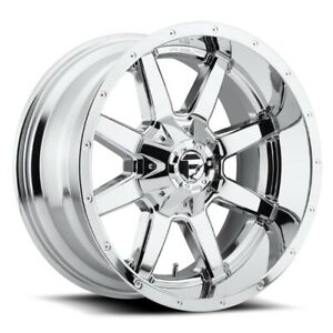 Set Of 4 Fuel Wheels D536 Maverick 22x10 8x180 24 Chrome