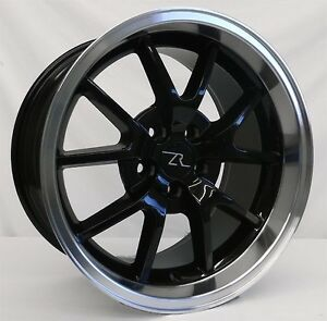 18 Black Mustang Fr500 Style Wheels Rims Staggered 18x9 18x10 5x114 3 94 04