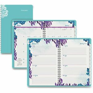 At a glance Wild Washes Weekly monthly Desk Planner Assorted