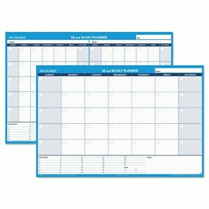At a glance 30 60 day Undated Horizontal Erasable Wall Planner 48 X 32