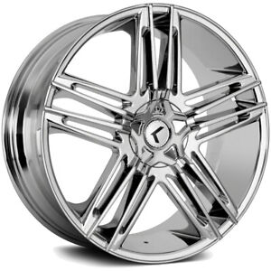 4 18 Inch Kraze Kr157 Hella 18x8 5x112 5x114 3 5x4 5 40mm Chrome Wheels Rims