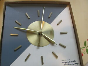 Howard Miller Built In Wall Clock George Nelson Assoc Model 6721 New Old Stock