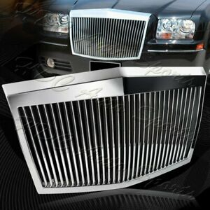 For 2005 2010 Chrysler 300 300c Abs Chrome Vertical Phantom Style Front Grille