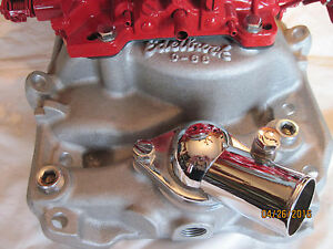 New Edlebrock Bbc 5420 2 X 4 With 2 Edlebrock 600 Cfm Highly Detailed Carbs