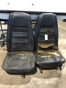 1969 1970 Ford Mustang Cougar Eliminator Mach Highback Front Bucket Seats Seat