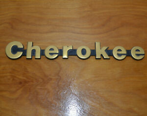 Jeep Cherokee Metal Emblem Oem Car Part Ornament Gold 8 Long