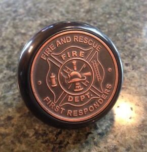 Fire And Rescue Bakelite Shift Knob First Responders Logo Emblem Firefighter