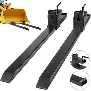 Clamp On Pallet Forks 30 1500lbs Capacity Loader Bucket Skidsteer Tractor Block