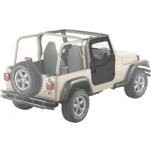 51789 35 Bestop 2 Piece Soft Doors Black Diamond For Jeep Wrangler 1997 2006