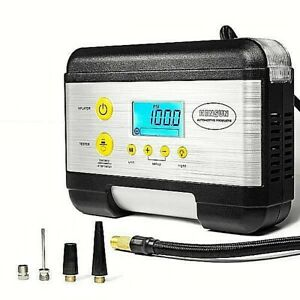 Kc k Tire Inflator Air Compressor For Cars With Emergency Light Battery Tester