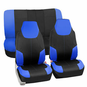 Neoprene Auto Seat Covers For Highback Bucket Seats Car Suv Van Blue Black