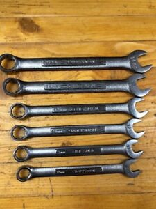 Vintage Craftsman Combo Wrench Set Of 6 Vv Series 10mm 15mm Excellent