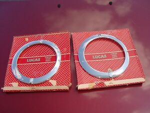2 Nos Lucas Headlight Head Lamp Rims Vauxhall Victor Fbh Vx4 90 Vx 4 90