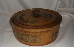 Large Antique Wood Spice Box With 8 Small Containers Unusual