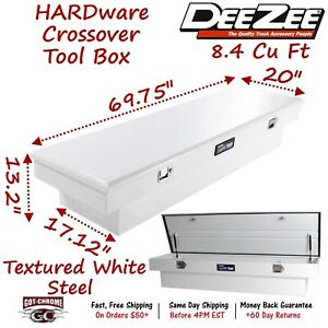 Dz8170s Dee Zee Steel Truck Crossover Tool Box Standard Single Lid White