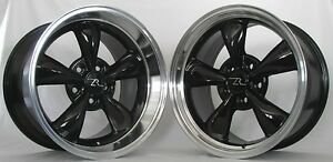 17 Deep Dish Black Bullitt Replica Wheels 17x9 17x10 5 5x114 3 94 04 Mustang