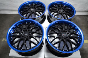 17 Wheels Honda Accord Civic Corolla Rav 4 Impreza Mx 5 Miata Black Blue Rims