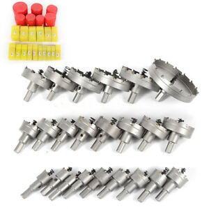 23pcs set Carbide Tip Tct 16 100mm Drill Bit Hole Saw Stainless Steel Alloy Tool