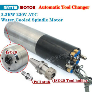 2 2kw Cnc Atc Automatic Tool Changer Water Cooling Spindle Motor 220v 6 8a Bt30