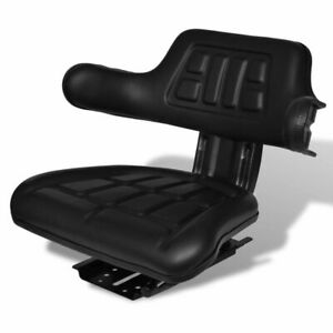Adjustable Tractor Seat With Backrest Sliding Track For Mower Digger Waterproof
