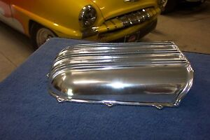 Offy Offenhauser Hood Scoop Old Style Polished Finned Aluminum