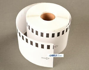 4 Rolls non Oem Labels fits Brother 2205 Continuous Feed Multipurpose Labels