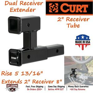 45792 Curt Dual Receiver Extender Extends 2 X 2 Receiver Tube By 8