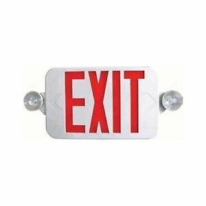 Ciata Lighting Red Exit Sign And Led Emergency Light Combo