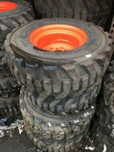 12 X16 5 Bobcat Heavy Duty Skid Steer Tires Wheels rims 6 Hub 8 Holes Oem Each