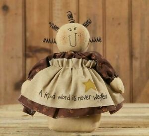Primitive Doll Country 8 A Kind Word Is Never Wasted Shelf Sitter Farmhouse