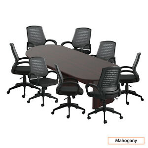 Gof 10 Ft Conference Table With 8 Chairs Mahogany 9 piece Table Set
