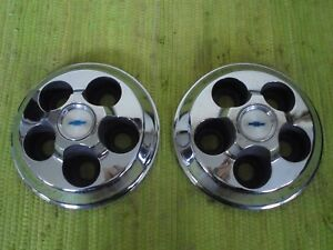 1969 Chevy Accessory Wheel Center Caps Set Of 2 Copo Ss Camaro Hubcaps 69