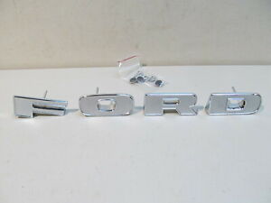 New 1973 1977 Ford Truck Chrome Grille Letter Set F 100 F 150 F 250 F 350
