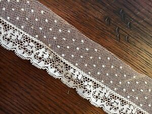 Antique Vtg Lace Dotted Trim French German Dolls Primitive Yardage Available A1