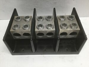 Underwriters Safety Device 3 Pole Power Distribution Block 50 Mcm 6