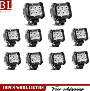 10x 27w Square Led Work Lights Flood Off Road Truck Boat 24v Roof Reverse Lamp