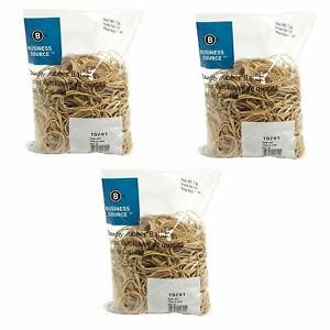 Business Source Size 32 Rubber Bands 1 Lb Bag 15741 3 Pack