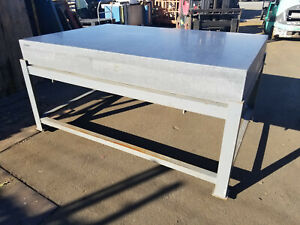 72 X 48 X 8 1 4 Thick Gray Granite Surface Plate W Table Stand
