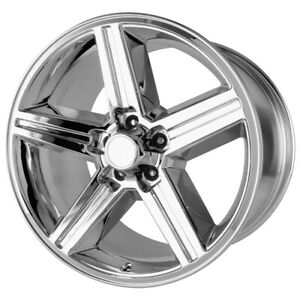 4 20 Inch Replica Iroc 20x8 5 5x114 3 5x4 5 35mm Chrome Wheels Rims