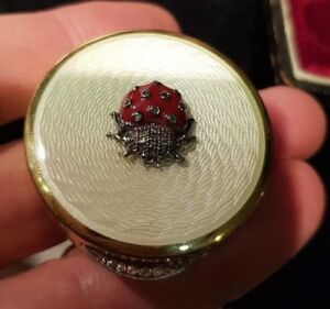 Nice Pillbox Russian Imperial Diamonds Guilloche Probably Faberge Master A H 88