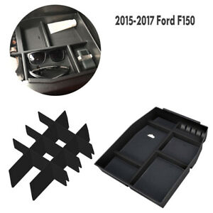 For Ford F150 2015 2017 Center Console Glove Storage Box Armrest Organizer Tray