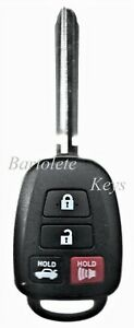 Replacement Remote Keyless Entry Key Blank Fob Fits Toyota Corolla Camry Avalon