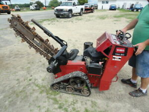 2012 Toro Trx 20 Walk Behind Trencher With Trailer Only 345 Hours With Trailer