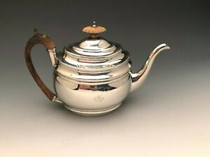 Georgian Era Tea Pot Sterling Silver Made In London England Circa 1802