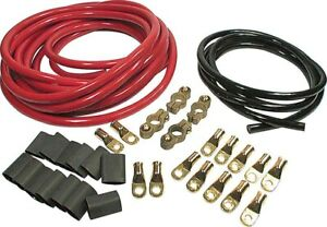 Allstar Performance 2 Gauge Red black Dual Battery Cable Kit P n 76112