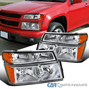 For 04 12 Chevy Colorado Gmc Canyon Clear Headlights corner Bumper Lamps Pair